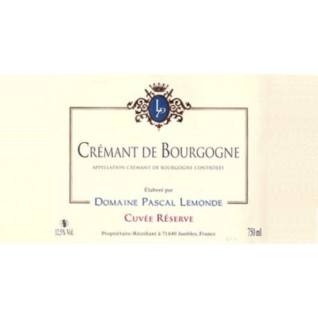 Domiane Pascal Lemonde, Crémant de bourgogne Brut Cuvée Réserve